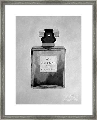 The Scent Black And White Framed Print