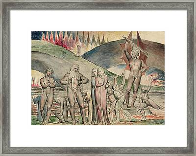 The Schismatics And Sowers Of Discord- Mahomet  Framed Print by William Blake