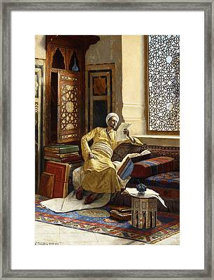 The Scholar Framed Print by Ludwig Deutsch