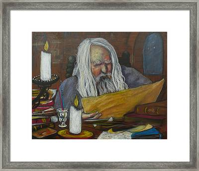 The Scholar Framed Print