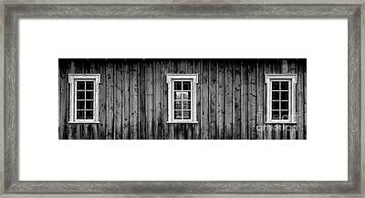 Framed Print featuring the photograph The School House by Brad Allen Fine Art