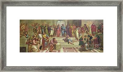 The School Of Athens, After Raphael  Framed Print by Joshua Reynolds
