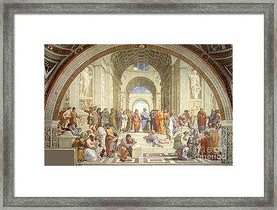 The School Of Athens, Raphael Framed Print by Science Source