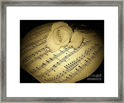 The Schubert Rose In Sepia Framed Print by Joyce Kimble Smith