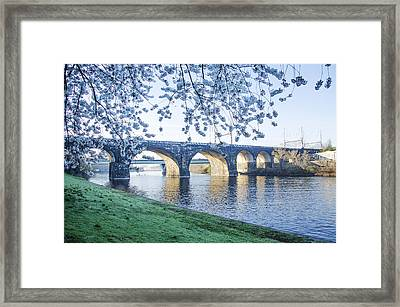The Schuylkill River At Springtime Framed Print by Bill Cannon