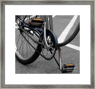 The Schwinn Speedster  Framed Print by Steven Digman