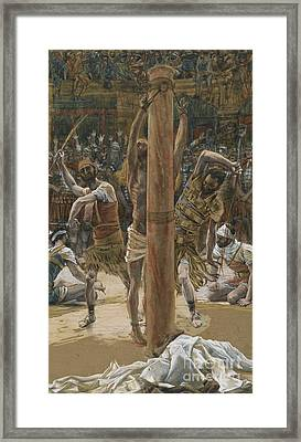 The Scourging On The Back Framed Print