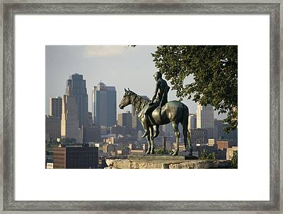 The Scout, A Native American Equestrian Framed Print