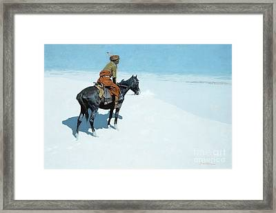 The Scout Friends Or Foes Framed Print by Frederic Remington