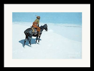 Cowboys And Indians Paintings Framed Prints