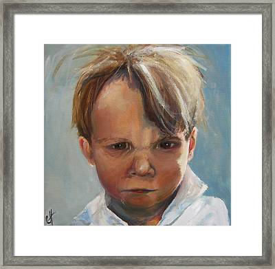 The Scowler Framed Print by Cari Humphry