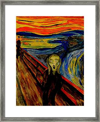 The Scream After Edvard Munch Framed Print