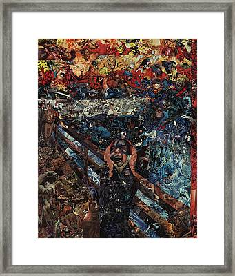 The Scream After Edvard Munch Framed Print by Joshua Redman