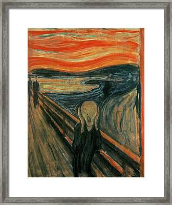 The Scream  Framed Print by Edward Munch