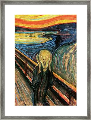 The Scream Flame Tree Edition Framed Print by Edvard Munch