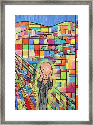 The Scream Jeremy Style Framed Print