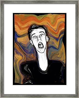 The Scream Framed Print by Russell Pierce