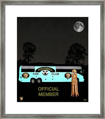 The Scream World Tour Football Tour Bus Framed Print