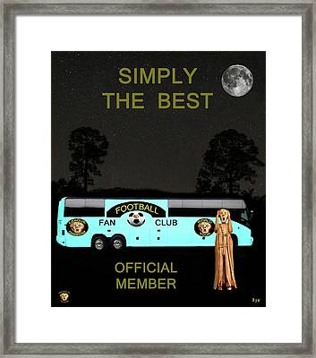 The Scream World Tour Football Tour Bus Simply The Best Framed Print