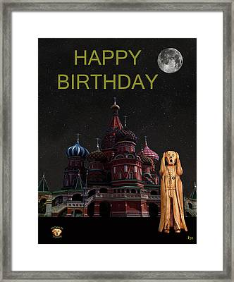 The Scream World Tour Moscow Happy Birthday Framed Print by Eric Kempson