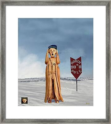 The Scream World Tour North Pole Framed Print
