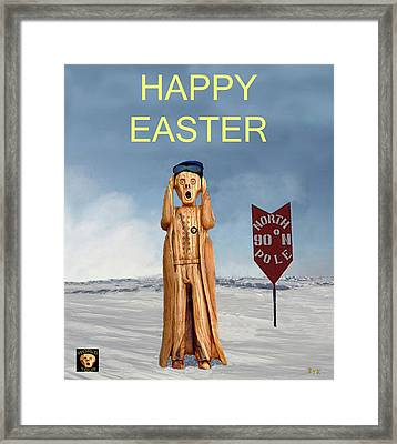 The Scream World Tour North Pole Happy Easter Framed Print