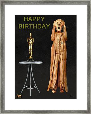 The Scream World Tour Oscars Happy Birthday Framed Print by Eric Kempson