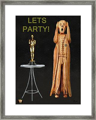 The Scream World Tour Oscars Lets Party Framed Print by Eric Kempson
