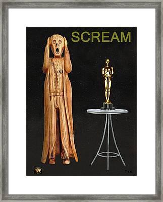 The Scream World Tour Oscars Scream Framed Print