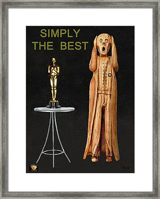 The Scream World Tour Oscars Simply The Best Framed Print by Eric Kempson