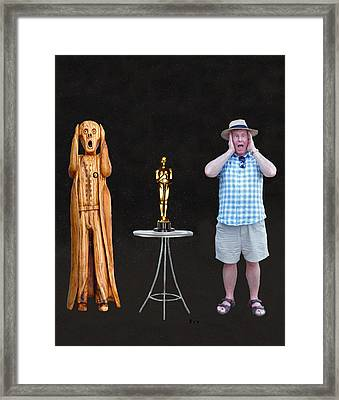 The Scream World Tour Oscars With Peter Beddoes Framed Print by Eric Kempson