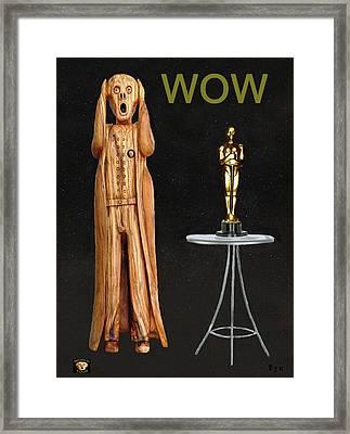 The Scream World Tour Oscars Wow Framed Print by Eric Kempson