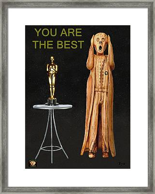 The Scream World Tour Oscars You Are The Best Framed Print by Eric Kempson