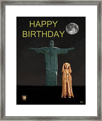 The Scream World Tour Rio Happy Birthday Framed Print by Eric Kempson