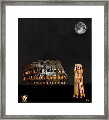 The Scream World Tour Rome Framed Print