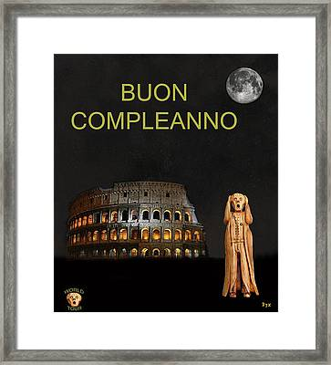 The Scream World Tour Rome Happy Birthday Italian Framed Print