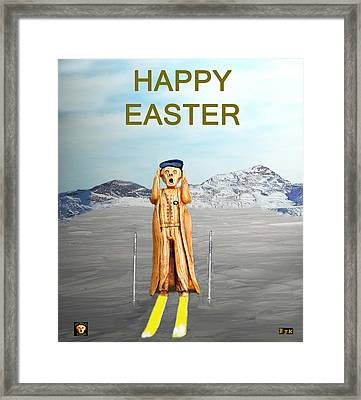 The Scream World Tour Skiing Happy Easter Framed Print