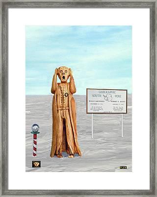 The Scream World Tour South Pole Framed Print