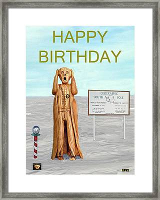 The Scream World Tour South Pole Happy Birthday Framed Print