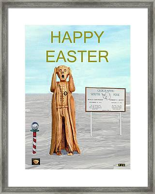 The Scream World Tour South Pole Happy Easter Framed Print