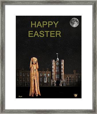 The Scream World Tour St James's Palace Happy Easter Framed Print