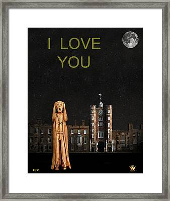 The Scream World Tour St James's Palace I Love You Framed Print