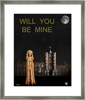 The Scream World Tour St James's Palace Will You Be Mine Framed Print