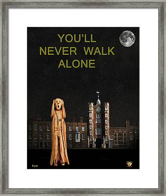 The Scream World Tour St James's Palace You'll Never Walk Alone Framed Print