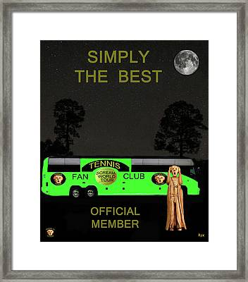 The Scream World Tour Tennis Tour Bus Simply The Best Framed Print