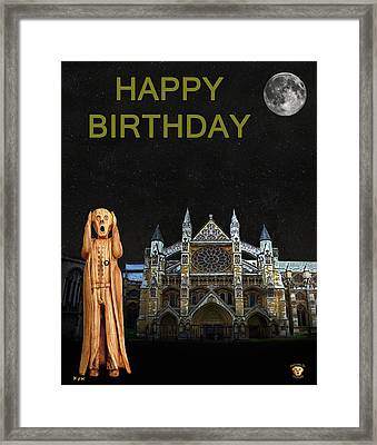 The Scream World Tour Westminster Abbey Happy Birthday Framed Print