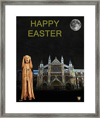 The Scream World Tour Westminster Abbey Happy Easter Framed Print