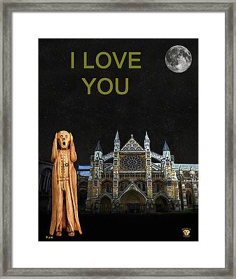 The Scream World Tour Westminster Abbey I Love You Framed Print