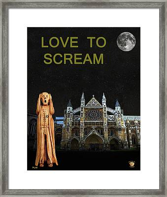 The Scream World Tour Westminster Abbey Love To Scream Framed Print