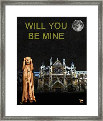The Scream World Tour Westminster Abbey Will You Be Mine Framed Print